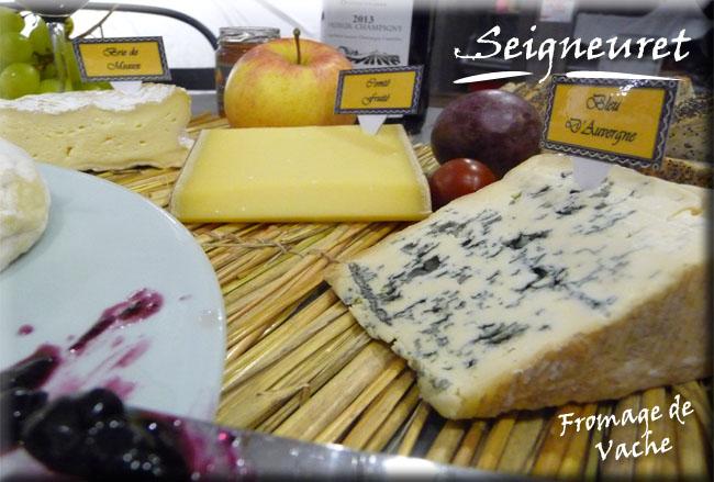 plateau de fromage de vache